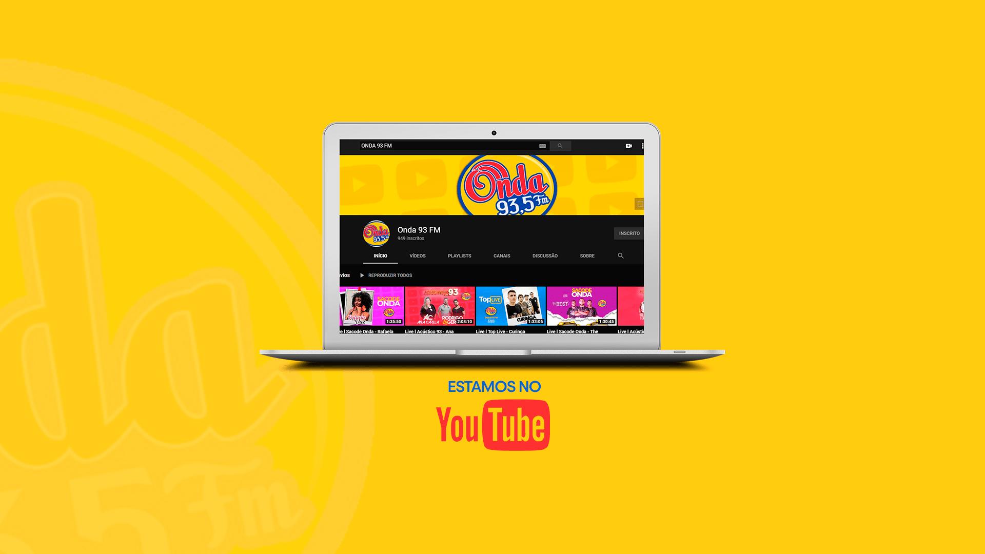 Estamos no Youtube